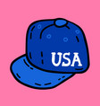 snapback baseball straight visor hip hop cap vector image
