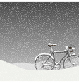 Snow Covered Bicycle Calm Winter Scene