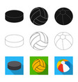 sport and ball icon vector image
