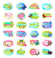 spring collection banners vector image vector image