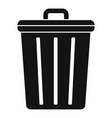 steel recycle bin icon simple style vector image vector image