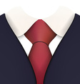 Suit with Necktie Close up vector image vector image