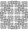 viking seamless pattern - interweaved squares vector image vector image