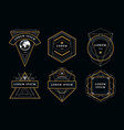 vintage geometric emblems vector image vector image