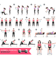 Woman dumbbell workout fitness and exercises vector image vector image