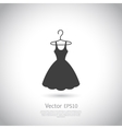 Black dress on hanger Dress icon vector image