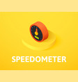 speedometer isometric icon isolated on color vector image