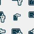 businessman making report icon sign Seamless vector image