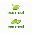 Abstract of stylized eco meat vector image vector image