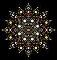 australian mandala dot painting design vector image vector image