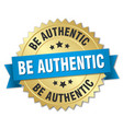 be authentic round isolated gold badge