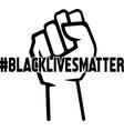 blacklivesmatter isolated on white background vector image