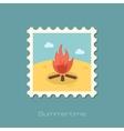 Bonfire flat stamp vector image vector image