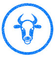 bull ring rounded grainy icon vector image vector image