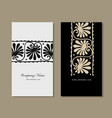 business cards design ethnic floral ornament vector image vector image