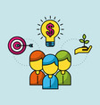 business people finance investment success economy vector image vector image