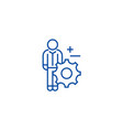 business services line icon concept business vector image vector image