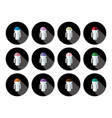 button people 4 vector image vector image