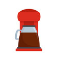 classic coffee machine icon flat style vector image vector image