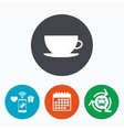 Coffee cup sign icon Coffee button vector image vector image