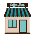 coffee shop building icon vector image vector image