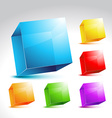 Collection of colorful cube vector image