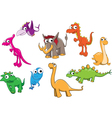 Collection of dinosaurs vector image