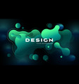 colorful geometric background design fluid shapes vector image