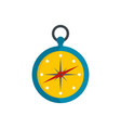 compass icon flat style vector image vector image
