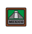 country badge collections mexico symbol of big vector image vector image