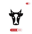 cow head icon vector image vector image