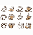 cups collection vector image vector image