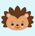 cute flat hedgehog with blush childish vector image vector image