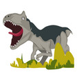 dangerous dinosaur on white background vector image vector image