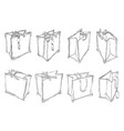 delivery gift bags vector image vector image