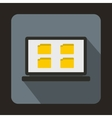 Desktop icon in flat style vector image vector image
