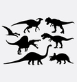 Dinosaur animal silhouettes vector image