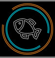 fish - nature symbol vector image