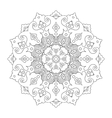 Flloral mandala white background vector image