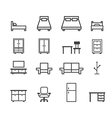furniture line icon vector image vector image