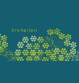 geometric dill or fennel design element vector image