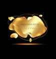 gold 3d modern abstract banner luxury icon vector image vector image