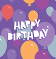 Happy birthday Seamless pattern with balloons vector image vector image