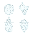 Iceberg Line Style Set vector image vector image