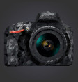 image of a camera in low poly style vector image vector image