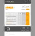 Invoice template orange - clean modern style vector image