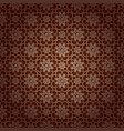 korean traditional brown flower pattern background vector image