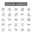 mashine learning line icons signs set vector image vector image