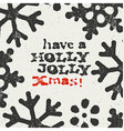 Merry Christmas Grunge Postcard Design On white vector image vector image