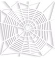 Paper spider web Spiral orb web type Halloween vector image vector image